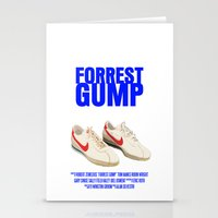 forrest gump Stationery Cards featuring Forrest Gump Movie Poster by FunnyFaceArt