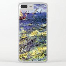 Vincent van Gogh Fishing Boats at Saintes-Maries Clear iPhone Case