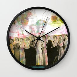The Line Up Wall Clock