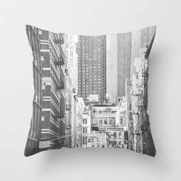 Once in Soho - New York City Photography Throw Pillow
