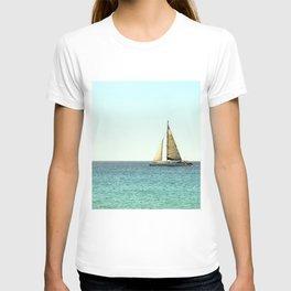 Sail Away with Me - Ocean, Sea, Blue Sky and Summer Sun T-shirt