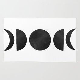 minimalist moon phases Rug