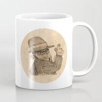 gangster Mugs featuring Gangster finger by Pedro Hamdan