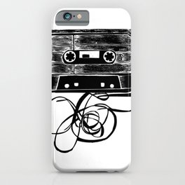 Classic audio Cassette Tape Coming Out iPhone Case