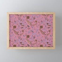 Pink fish pond Framed Mini Art Print