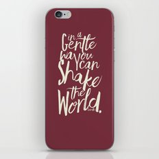 Kindness Quote by Gandhi  on Satyagraha (red version) iPhone & iPod Skin