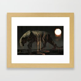 Tiger Sun Framed Art Print