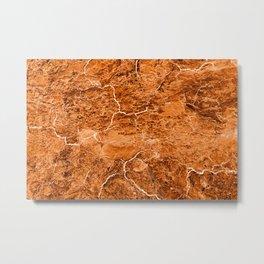 Molten Earth Texture Metal Print