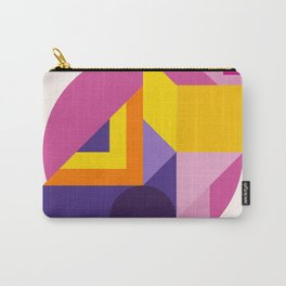 Abstract modern geometric background. Composition 14 Carry-All Pouch