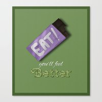eat Canvas Prints featuring Eat! by Peverells