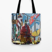austin Tote Bags featuring Austin by JonezuArt