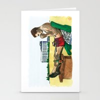 hunter s thompson Stationery Cards featuring Hunter S. Thompson, The Rum Diary by Abominable Ink by Fazooli
