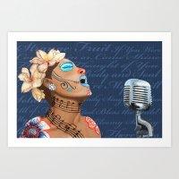 Billie Holiday Dia De Los Muertos Art Print