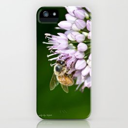 Honey Bee And Lavender Flower iPhone Case