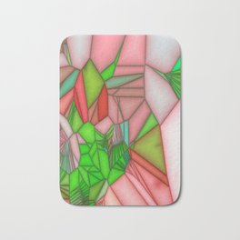 stained glass wonderfull colours Bath Mat