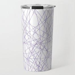Purple weave pattern, vector illustration Travel Mug