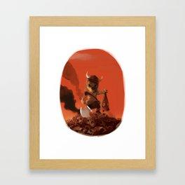 Viking Dog Framed Art Print