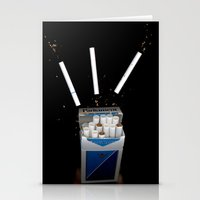 cigarettes Stationery Cards featuring Cigarettes by Courtney Decker