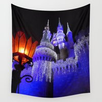 spires Wall Tapestries featuring Blue Spires by Dragons Laire