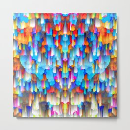 Colorful digital art splashing G397 Metal Print