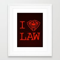 law Framed Art Prints featuring Law Lover by Fanboy30