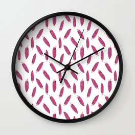 Cacao Fruits Pattern Wall Clock