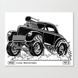 1941 WILLYS Classic Rodder - Black Canvas Print