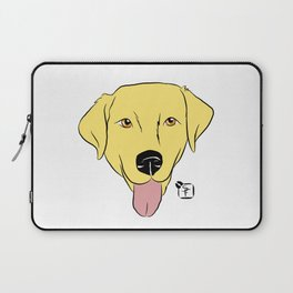 Yellow Lab Face Laptop Sleeve