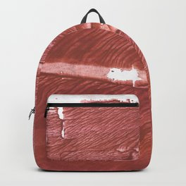 Red Brown nebulous wash drawing pattern Backpack
