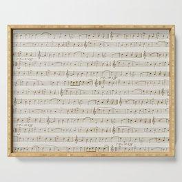 Sheet Music Serving Tray
