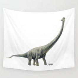 Green Titanosaur Wall Tapestry