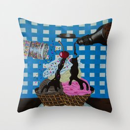 We all scream for Throw Pillow