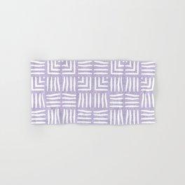 Velvety Tribal Weave Reverse in Lilac Hand & Bath Towel