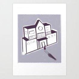 Unhaunted Mansion Art Print