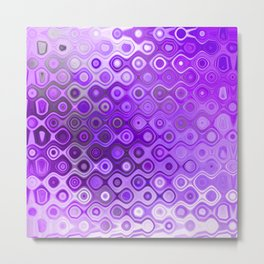 Wobbly Dots in violet Metal Print
