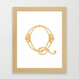Celtic Knot Initial Q Framed Art Print