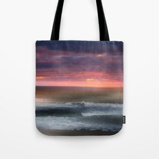 The Tide Rises ~ The Tide Falls ~ Sunset Clouds Tote Bag