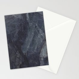 Navy Blue Marble Stationery Cards