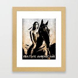 Indian Warrior Framed Art Print
