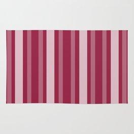 Raspberry Victorian Lady Stripe Rug