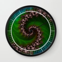 Benthic Saltlife Fractal Tribute for Reef Divers Wall Clock