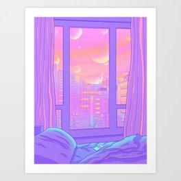 Shinjuku Summer View Art Print
