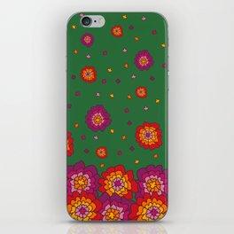 Retro Blooming iPhone Skin