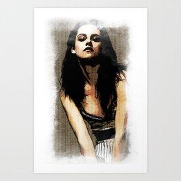 Kristen Stewart Portrait #3 Art Print