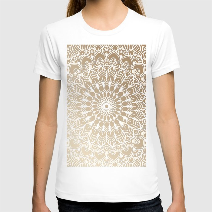 Gold Mandala 19 T-shirt