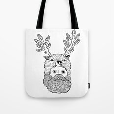 Portrait of Northern Deer Man Tote Bag