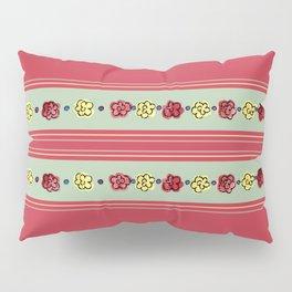 A Rosey Outlook Red Pillow Sham