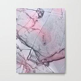 Urban Pink and Grey Marble Pattern Metal Print