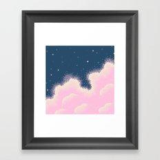 Pixel Cotton Candy Galaxy Framed Art Print