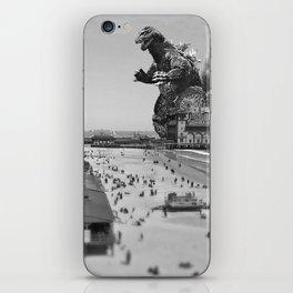 Old Time Godzilla in Atlantic City iPhone Skin